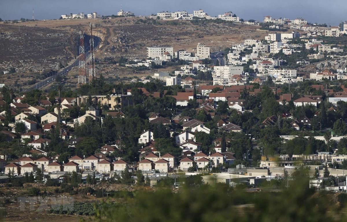 Khu định cư Do Thái Ofra, phía Bắc Ramallah ở Khu Bờ Tây. (Ảnh: AFP/TTXVN)