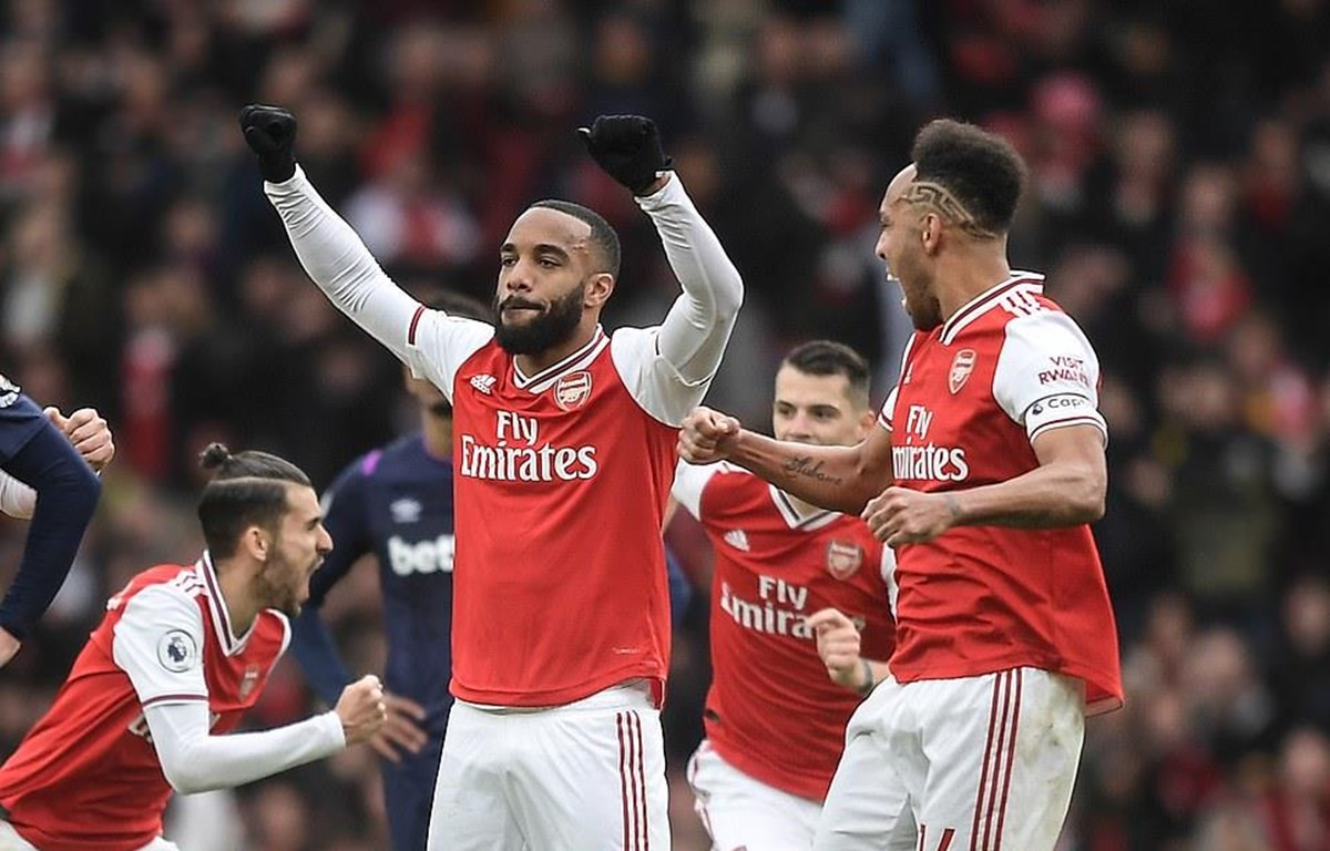 Lacazette (số 9) giúp Arsenal chiến thắng. (Nguồn: Daily Mail)