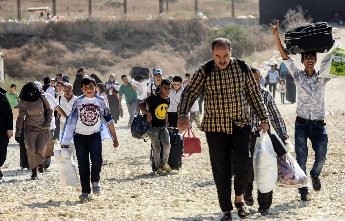 Người tị nạn Syria tại thị trấn Kilis, Thổ Nhĩ Kỳ. (Ảnh: AFP/TTXVN)