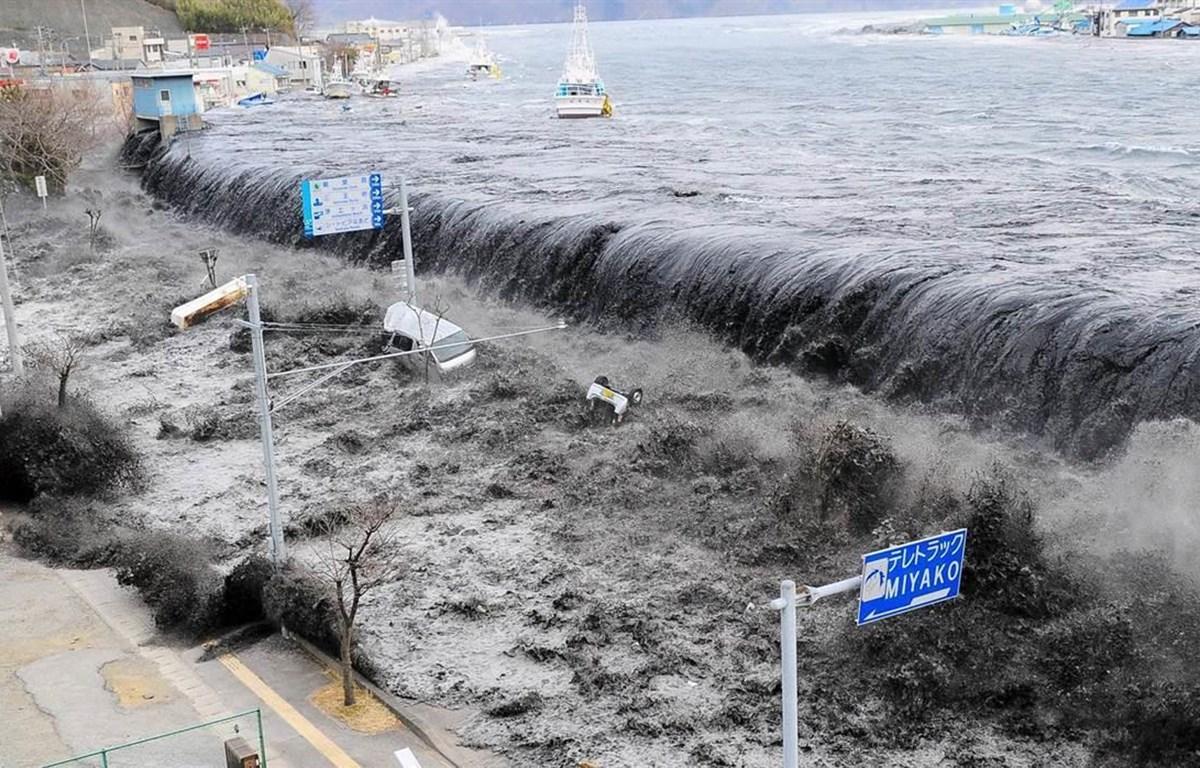Hình ảnh Nhật Bản hứng chịu thảm họa động đất-sóng thần. (Nguồn: Getty Images)