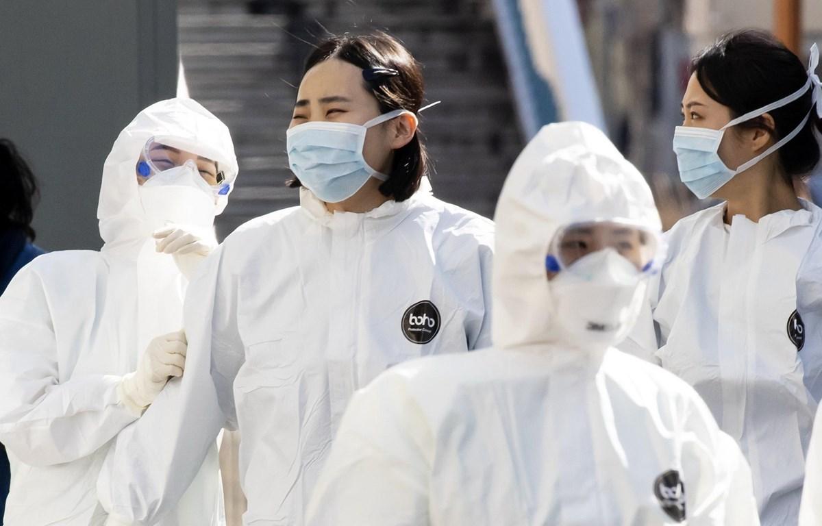 Nhân viên y tế tại bệnh viện Dongsan ở thành phố Daegu, Hàn Quốc. (Ảnh: Yonhap/TTXVN)