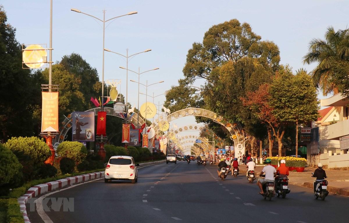 Bộ mặt thành phố Buôn Ma Thuột khang trang sau 45 năm giải phóng. (Ảnh: Tuấn Anh/TTXVN)
