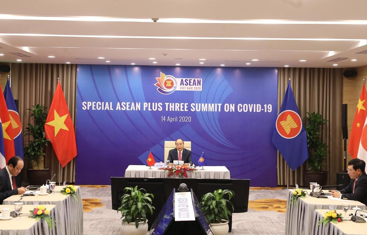 Thủ tướng Nguyễn Xuân Phúc, Chủ tịch ASEAN 2020 phát biểu. (Ảnh: Thống Nhất/TTXVN)