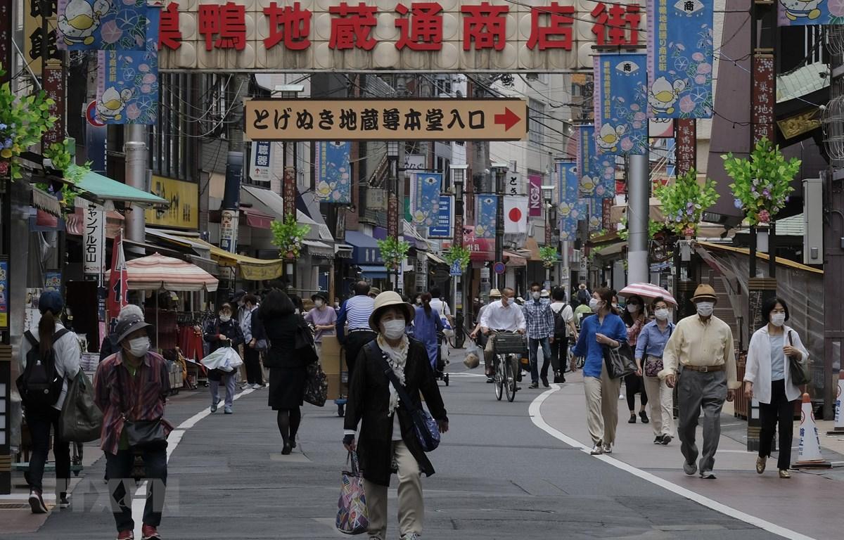 Quang cảnh đường phố tại Tokyo, Nhật Bản. (Ảnh: AFP/TTXVN)
