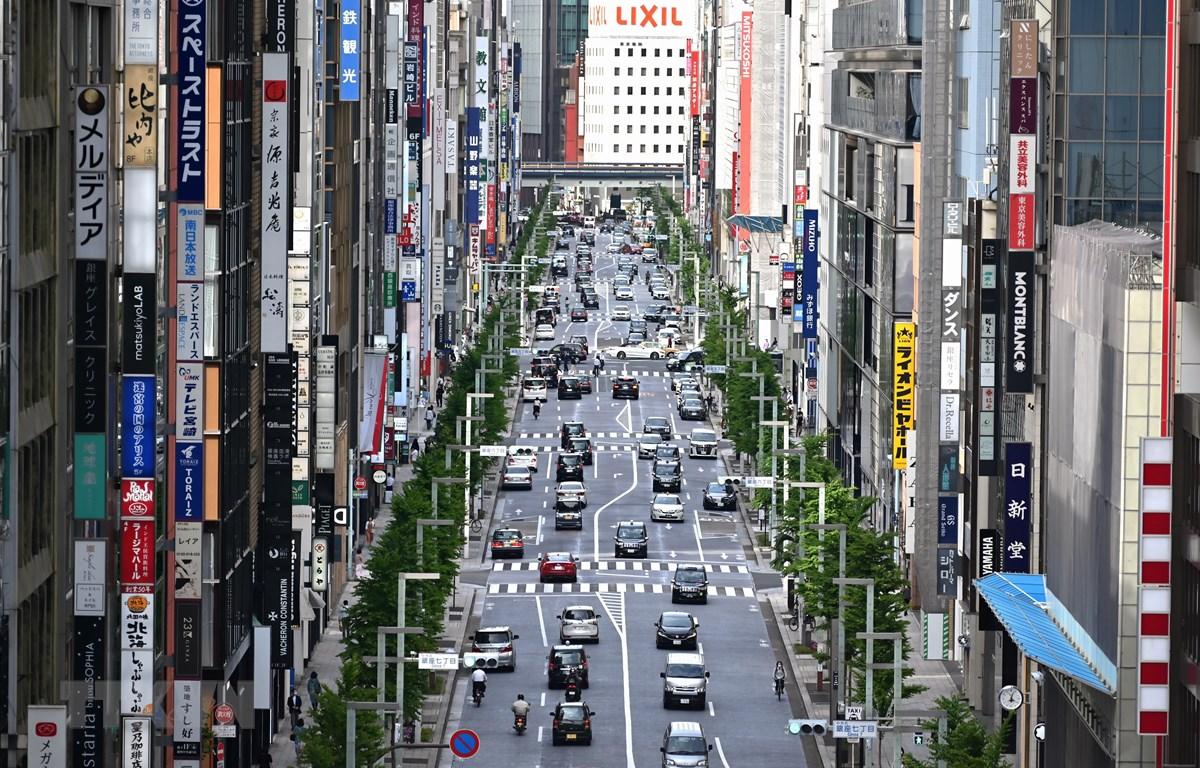 Đại lộ Ginza ở Tokyo, Nhật Bản. (Ảnh: AFP/TTXVN)