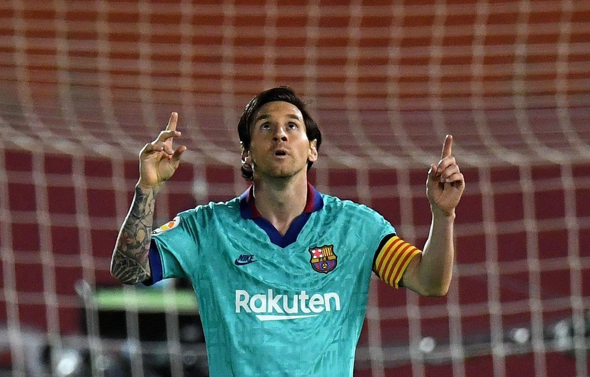 Messi mang chiến thắng về cho Barcelona. (Nguồn: Getty Images)