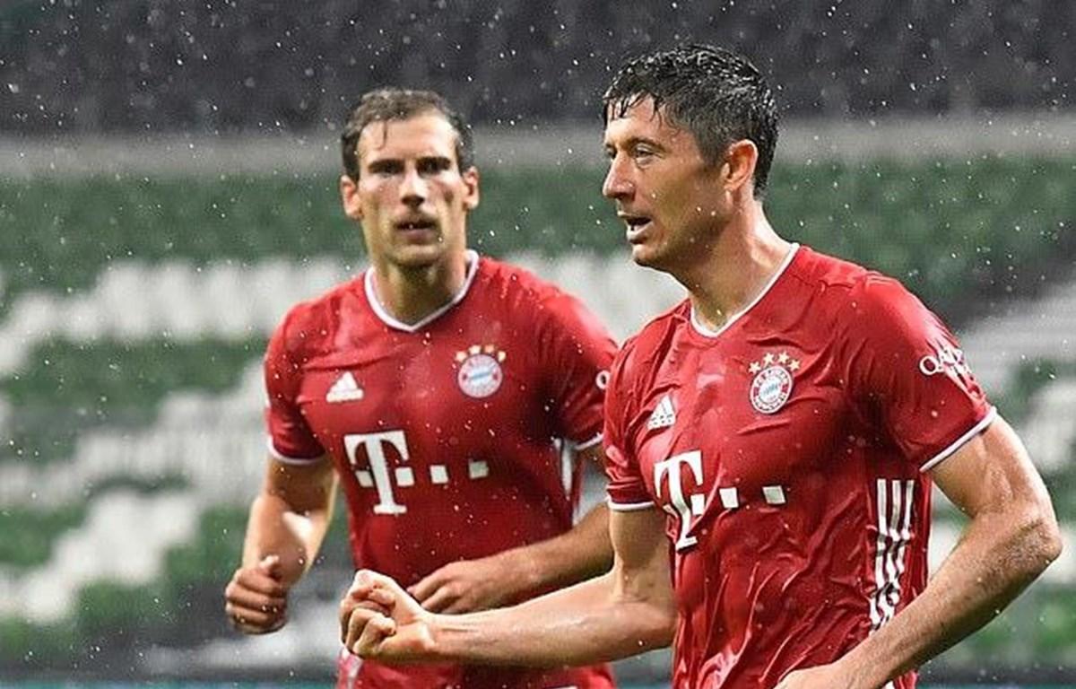 Lewandowski ghi bàn thắng duy nhất giúp Bayern vô địch sớm 2 vòng đấu.