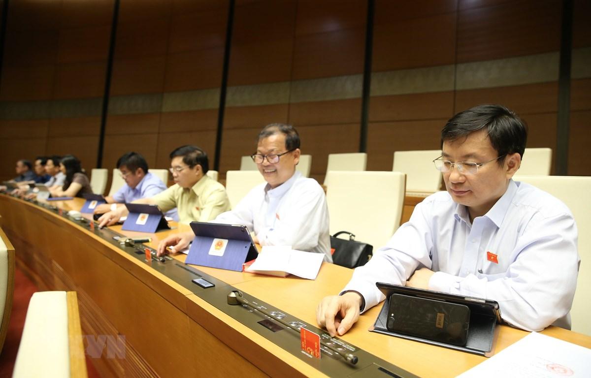 Các Đại biểu Quốc hội. (Ảnh: Dương Giang/TTXVN)