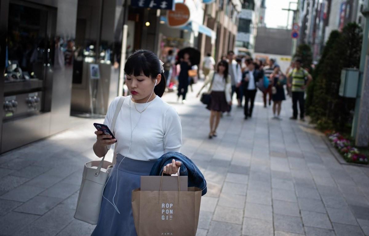 Yamato cấm người đi bộ sử dụng điện thoại thông minh. (Nguồn: AFP)