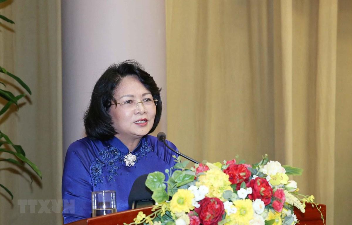 Phó Chủ tịch nước Đặng Thị Ngọc Thịnh phát biểu chỉ đạo đại hội. (Ảnh: Phương Hoa/TTXVN)