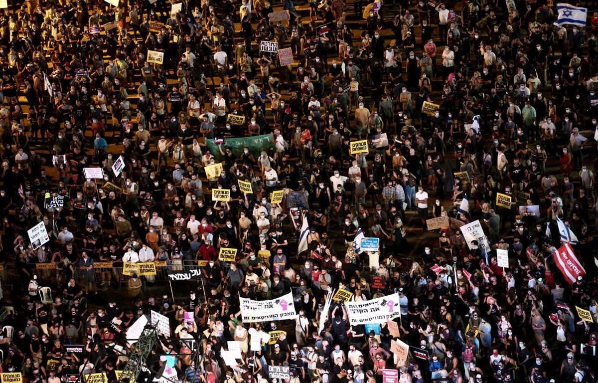Hàng nghìn người đã tham gia biểu tình. (Nguồn: timesofisrael)