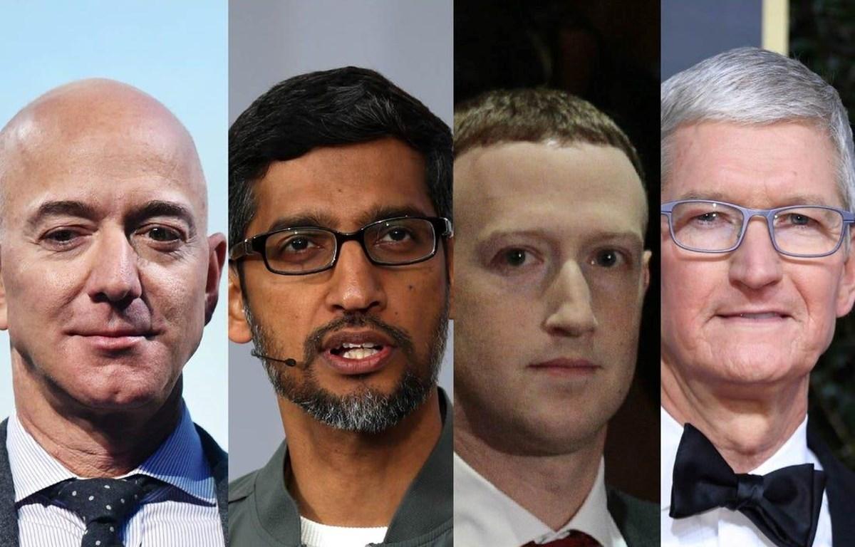 4 CEO của Amazon, Apple, Google và Facebook sẽ tham gia phiên điều trần vào ngày 29/7. (Nguồn: businessinsider)