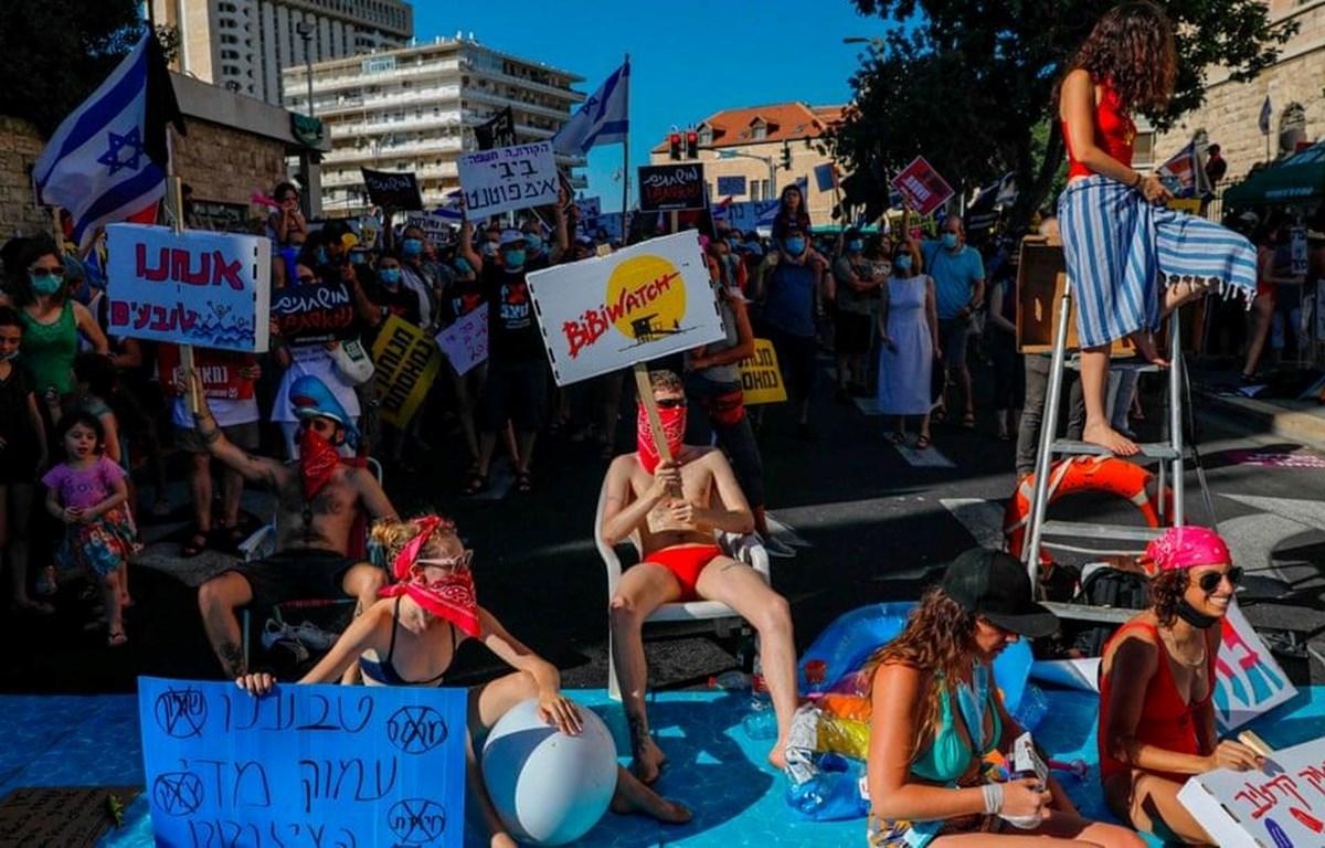 Người dân Israel biểu tình. (Nguồn: AFP/Getty Images)