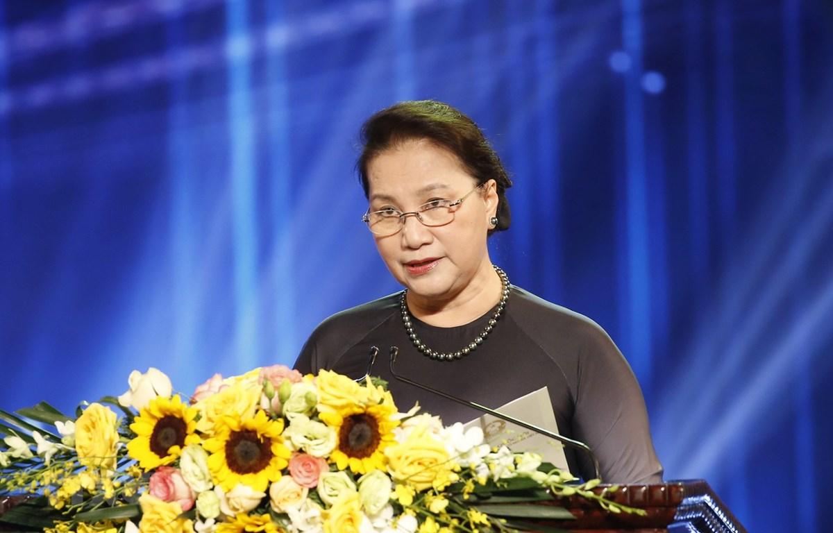 Chủ tịch Quốc hội Nguyễn Thị Kim Ngân phát biểu. (Ảnh: Doãn Tấn/TTXVN)
