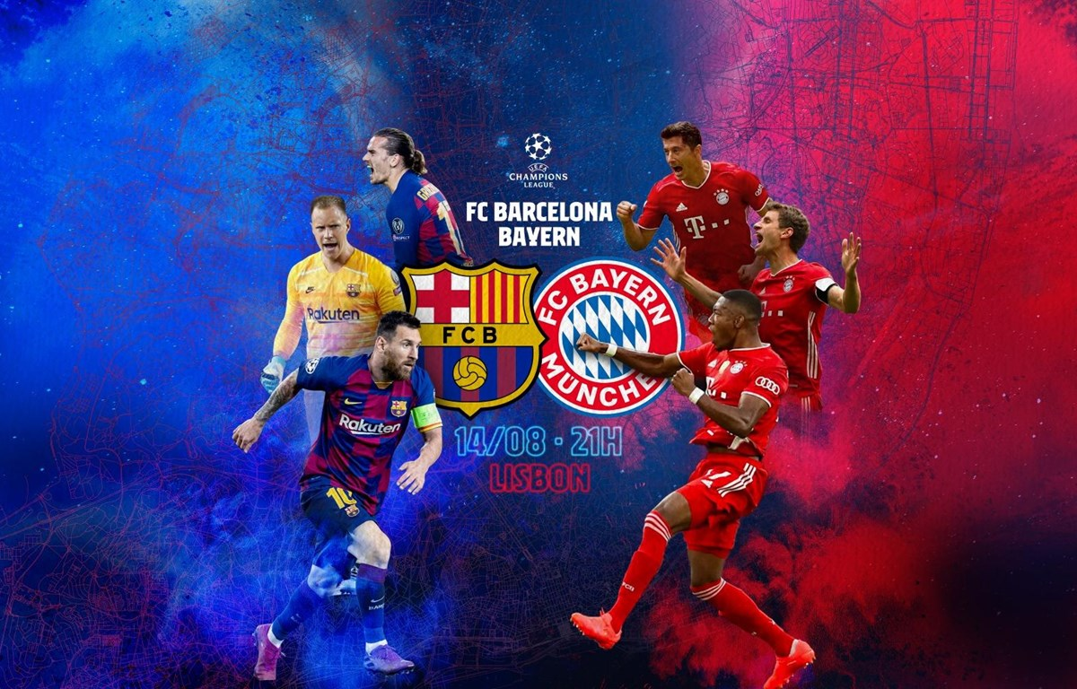 Barcelona-Bayern Munich, trận cầu tâm điểm vòng tứ kết Champions League.
