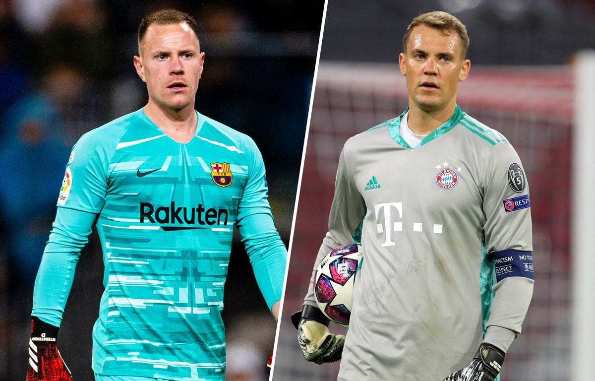 Ter Stegen và Neuer sẽ có dịp đối đầu trực tiếp. (Nguồn: web.de)