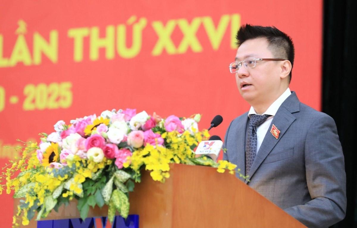 Đồng chí Lê Quốc Minh, Phó Tổng giám đốc được tín nhiệm bầu giữ chức Bí thư Đảng ủy TTXVN khóa XXVI, nhiệm kỳ 2020-2025. (Ảnh: Thành Đạt/TTXVN)