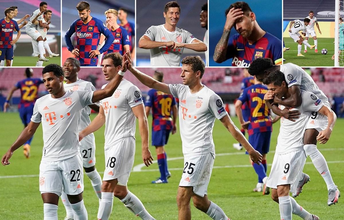 Bayern gieo nỗi kinh hoàng cho Barcelona. (Nguồn: Daily Mail)