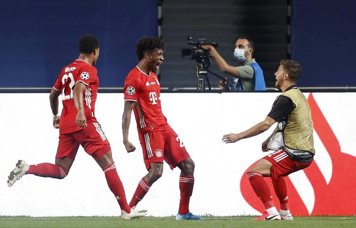 Coman (giữa) ghi bàn thắng duy nhất của trận đấu. (Nguồn: Getty Images)