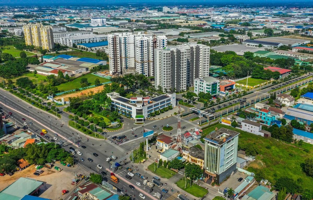 Một góc Khu công nghiệp Việt Nam-Singapore (VSIP1), thành phố Thuận An, tỉnh Bình Dương. (Ảnh: Chí Tưởng/TTXVN)
