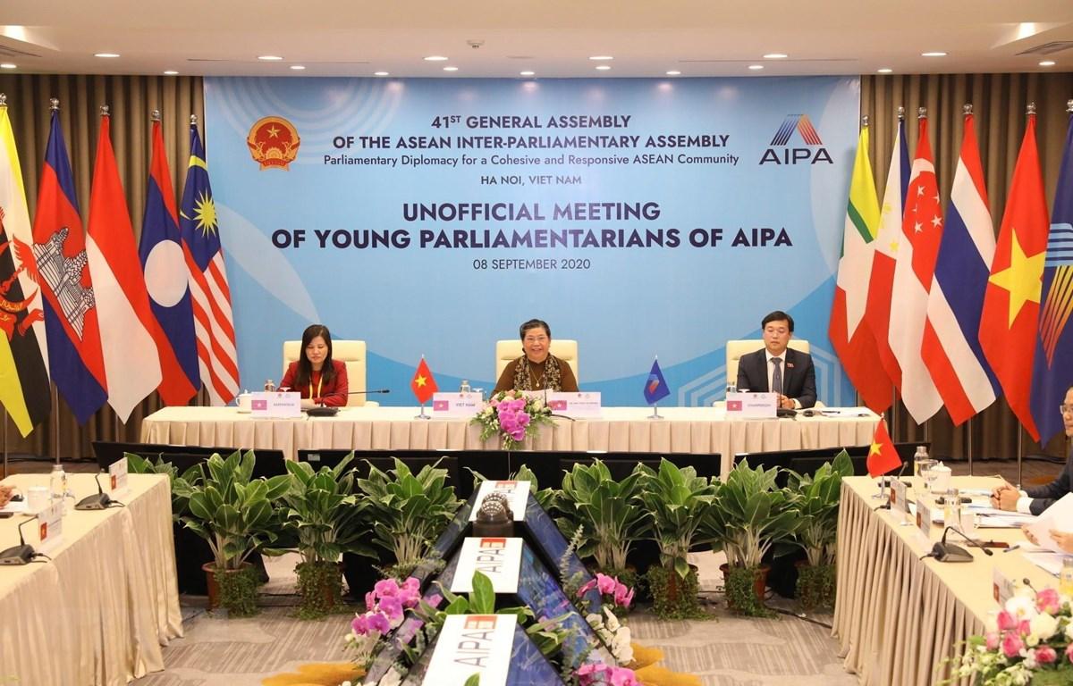 Phó Chủ tịch Thường trực Quốc hội Tòng Thị Phóng, Trưởng Ban tổ chức AIPA 41 phát biểu. (Ảnh: Văn Điệp/TTXVN)