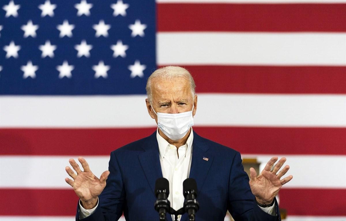 Ông Joe Biden phát biểu trong chuyến vận động tranh cử tại Wisconsin. (Nguồn: AP)