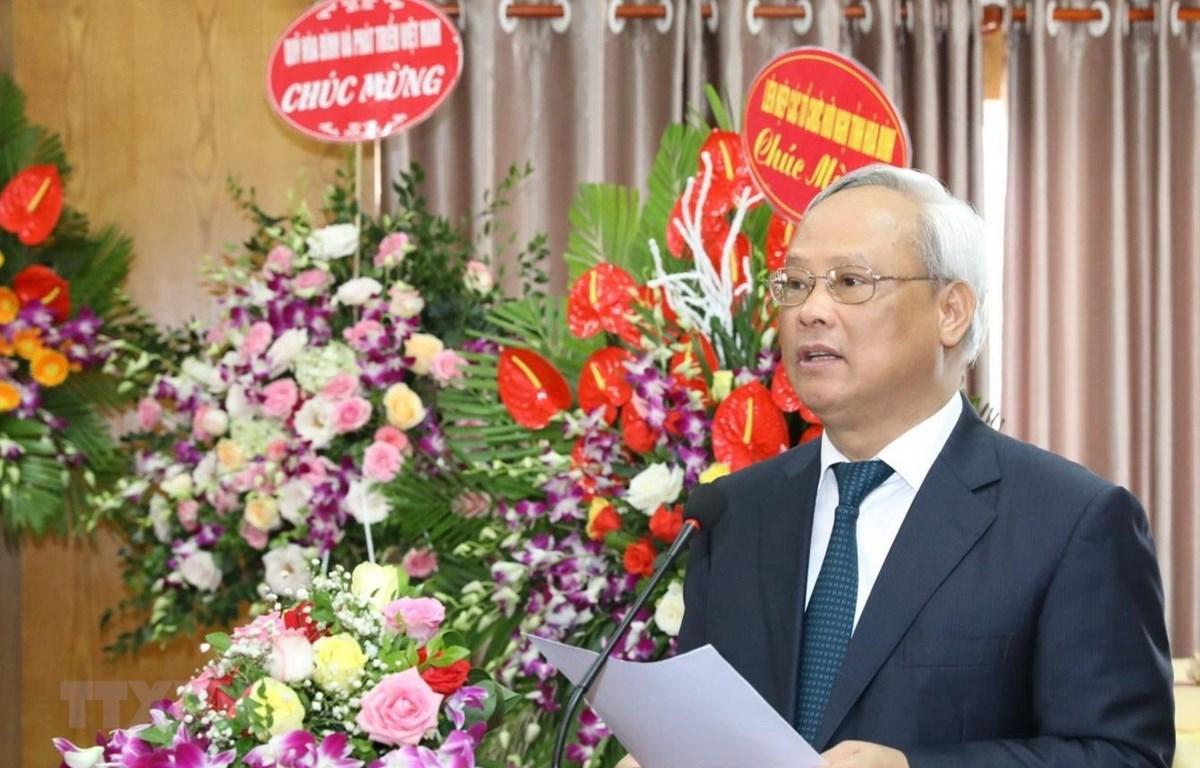 Phó Chủ tịch Quốc hội, Chủ tịch Ủy ban Hòa bình Việt Nam Uông Chu Lưu phát biểu khai mạc. (Ảnh: Văn Điệp/TTXVN)