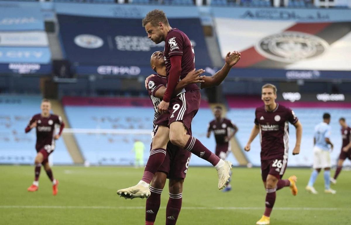 Vardy thăng hoa giúp Leicester vùi đập Man City. (Nguồn: AP)
