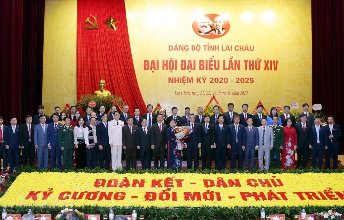 Ban Chấp hành Đảng bộ tỉnh Lai Châu nhiệm kỳ 2020-2025. (Ảnh: Quý Trung/TTXVN)