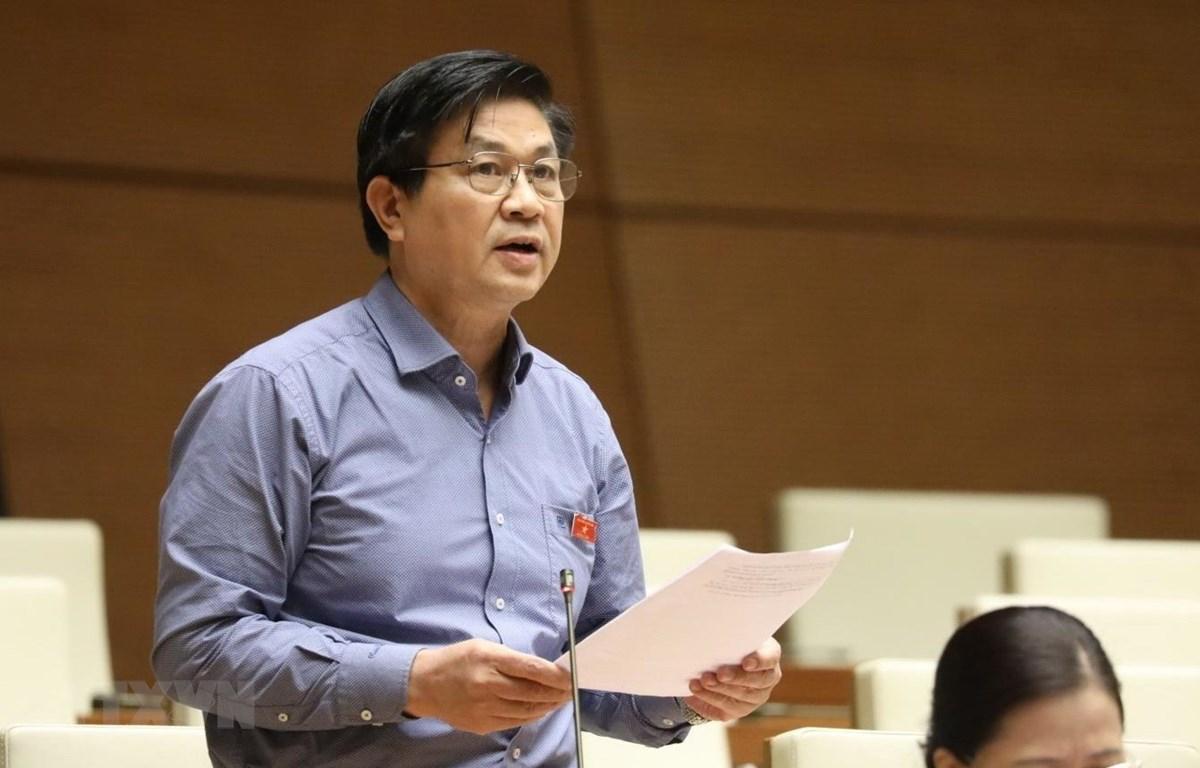 Trong ảnh: Đại biểu Quốc hội tỉnh Khánh Hòa Đỗ Ngọc Thịnh phát biểu. (Ảnh: Văn Điệp/TTXVN)
