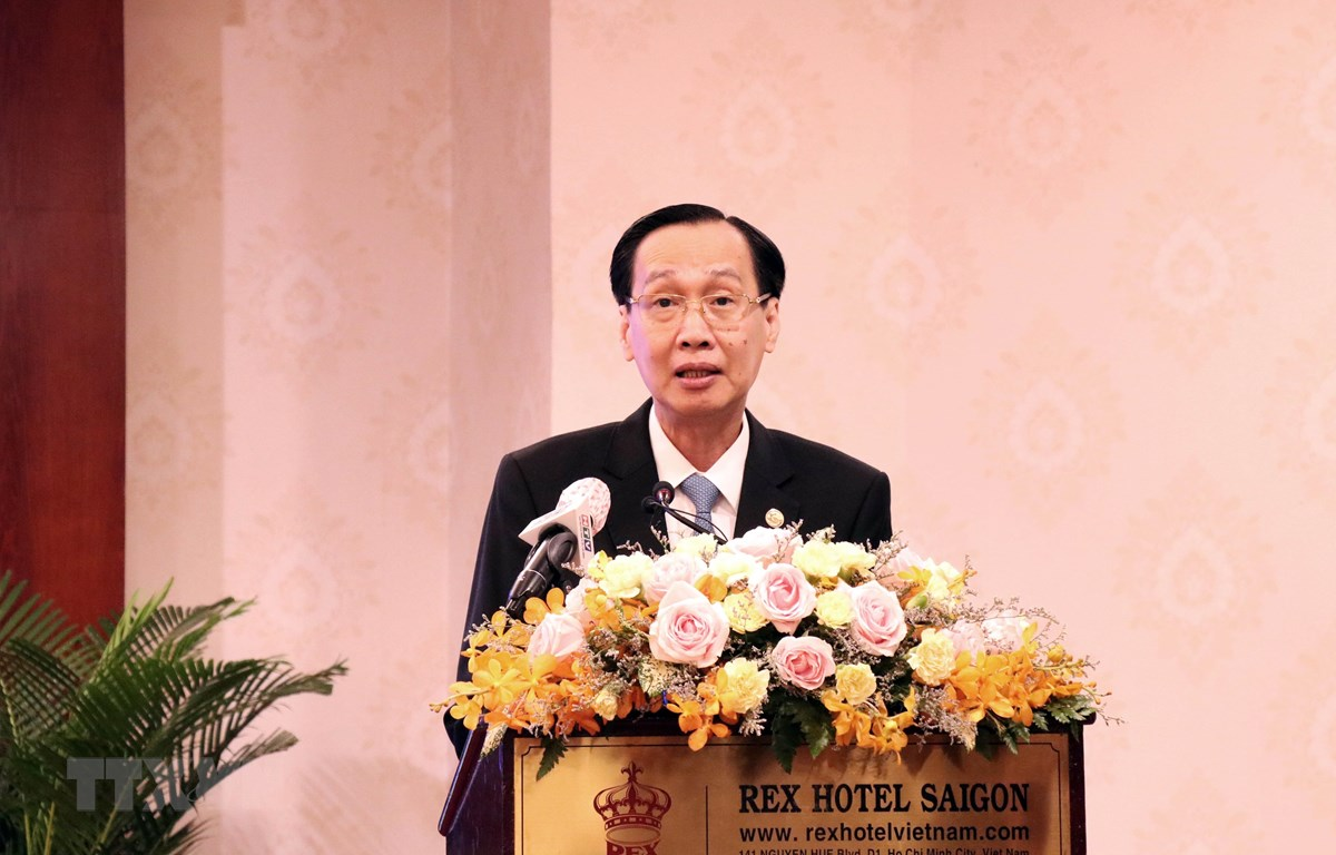 Ông Lê Thanh Liêm, Phó Chủ tịch Thường trực UBND Thành phố Hồ Chí Minh phát biểu. (Ảnh: Xuân Khu/TTXVN)