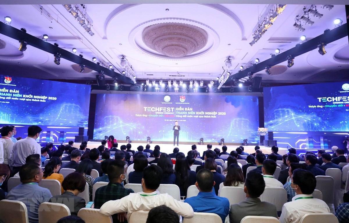 Ngày hội Khởi nghiệp đổi mới sáng tạo quốc gia 2020 (Techfest Việt Nam 2020). (Ảnh: Anh Tuấn/TTXVN)