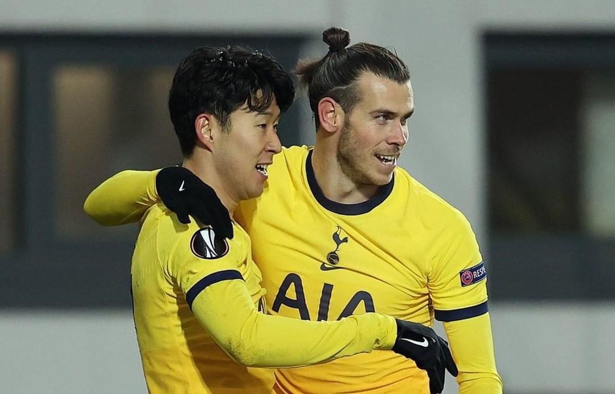 Bale và Son Heung-min cùng ghi bàn giúp Tottenham vào vòng 1/16 Europa League. (Nguồn: Getty Images)