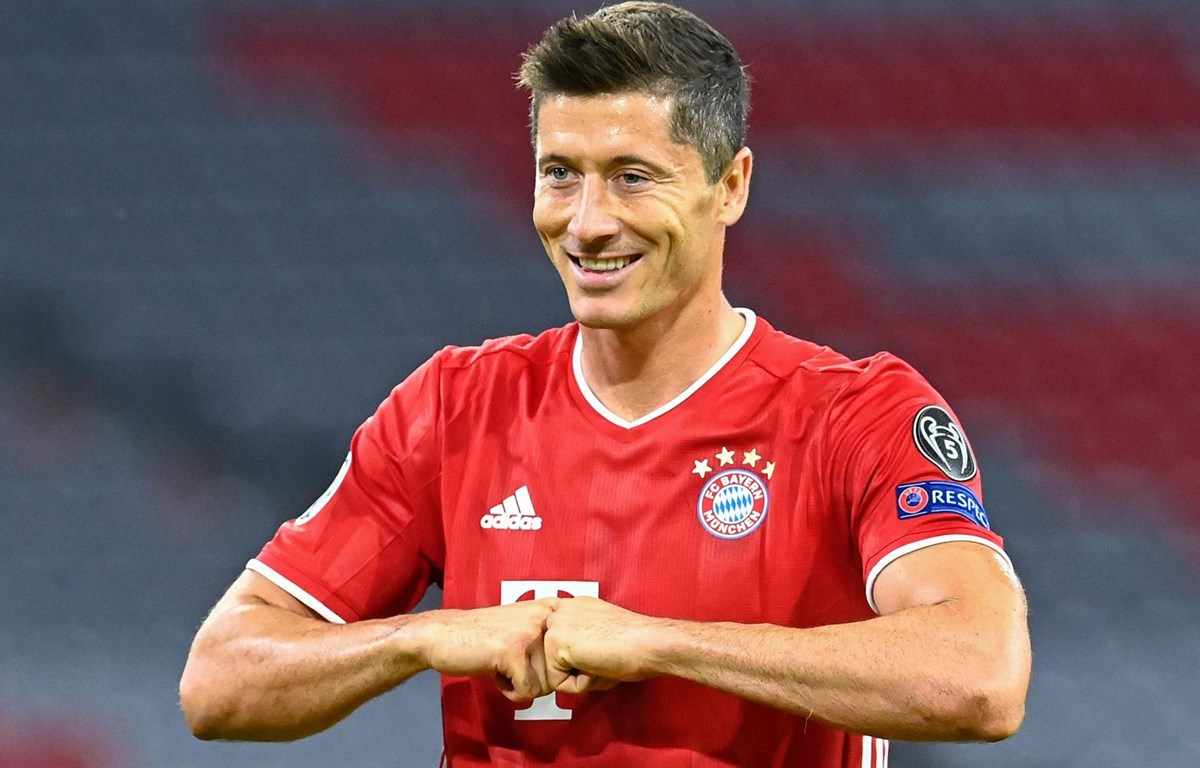 Lewandowski trải qua năm 2020 vô cùng ấn tượng trong màu áo Bayern. (Nguồn: Getty Images)