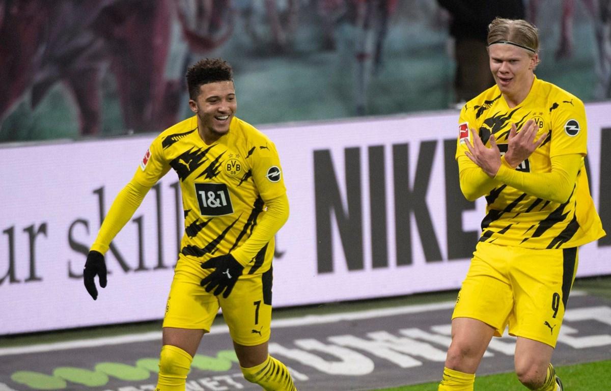 Sancho và Haaland giúp Dortmund đánh bại RB Leipzig. (Nguồn: bundesliga)