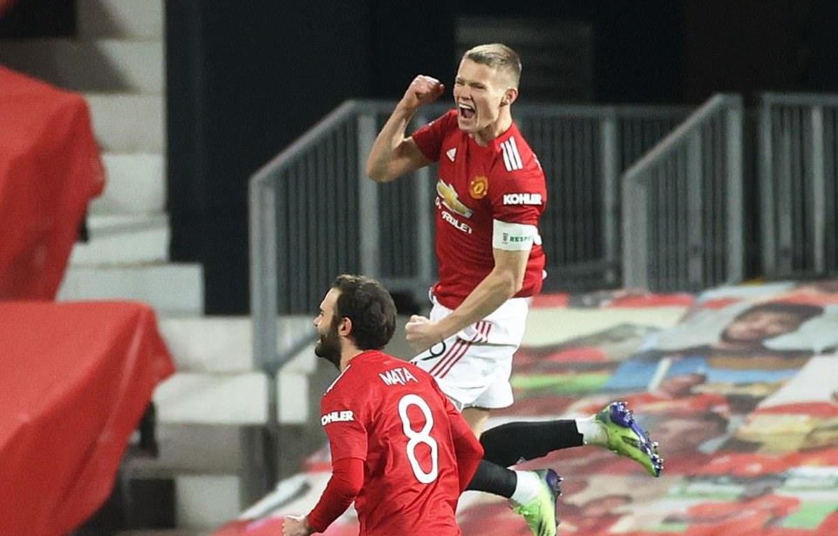 Scott McTominay ghi bàn duy nhất giúp M.U chiến thắng. (Nguồn: Reuters)