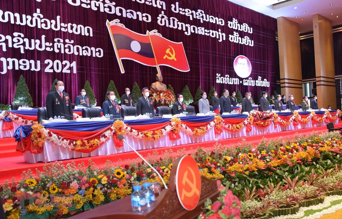 Đại hội đại biểu toàn quốc Đảng Nhân dân Cách mạng Lào lần thứ XI. (Ảnh: TTXVN phát)