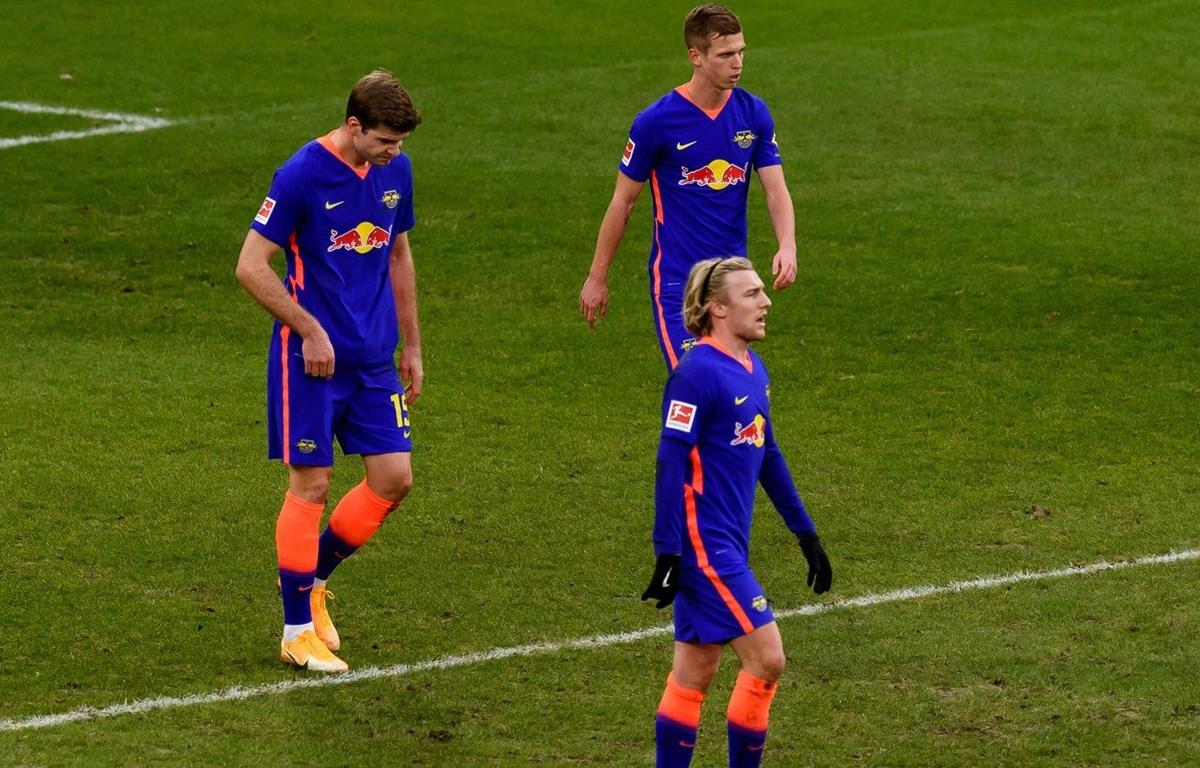 RB Leipzig bại trận trước đội bóng trong nhóm cuối bảng. (Nguồn: Sky)