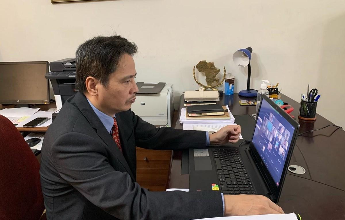 Đại sứ Đặc mệnh Toàn quyền Việt Nam tại Algeria, Nguyễn Thành Vinh. (Ảnh: Tấn Đạt/TTXVN)