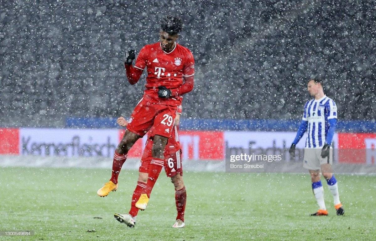 Coman ghi bàn giúp Bayern chiến thắng. (Nguồn: Getty Images)