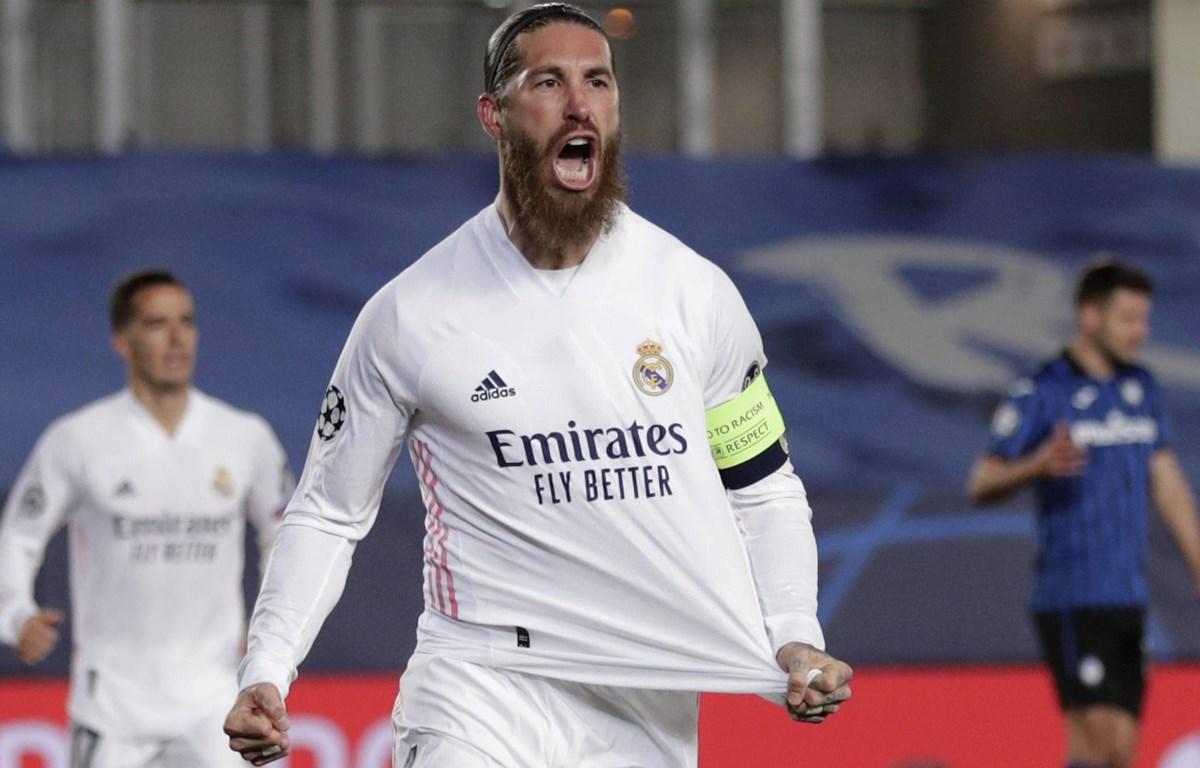 Ramos góp công giúp Real vào tứ kết Champions League. (Nguồn: AP)