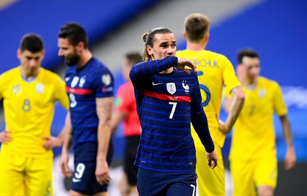 Griezmann ghi bàn nhưng Pháp không thắng Ukraine. (Nguồn: Getty Images)
