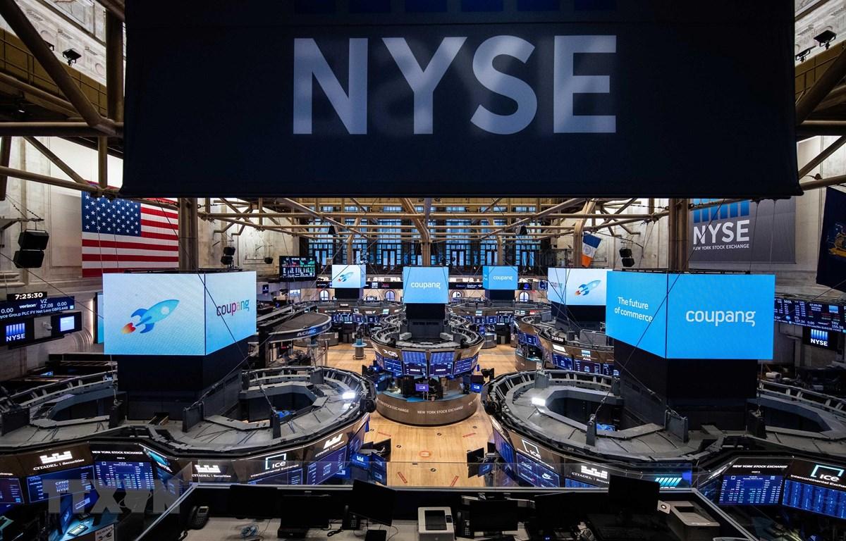 Sàn giao dịch chứng khoán New York, Mỹ. (Ảnh: Yonhap/TTXVN)