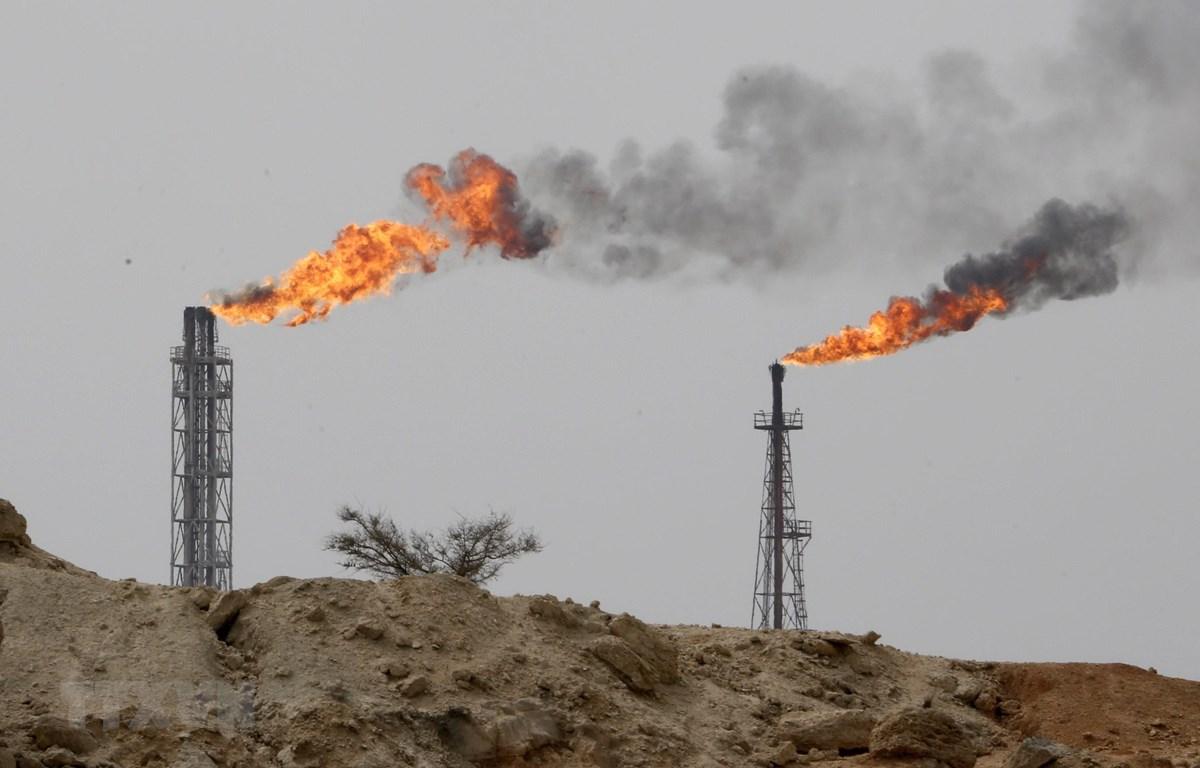 Một cơ sở khai thác dầu của Iran trên đảo Khark. (Ảnh: AFP/TTXVN)