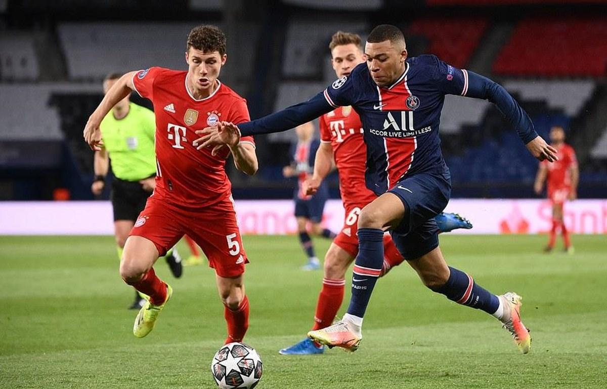 Mbappe cùng PSg vượt qua Bayern để vào bán kết. (Nguồn: Getty Images)