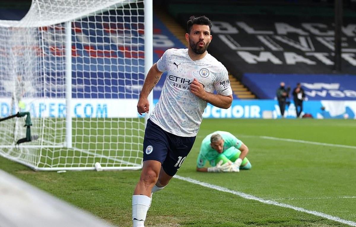 Aguero giúp Man City chạm tay vào chức vô địch Premier League. (Nguồn: Getty Images)