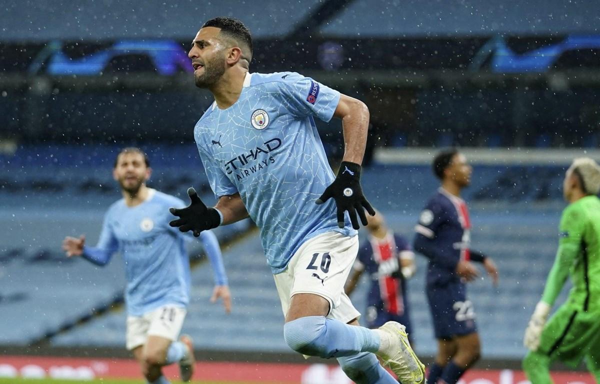 Mahrez đưa Man City vào chung kết Champions League. (Nguồn: AP)