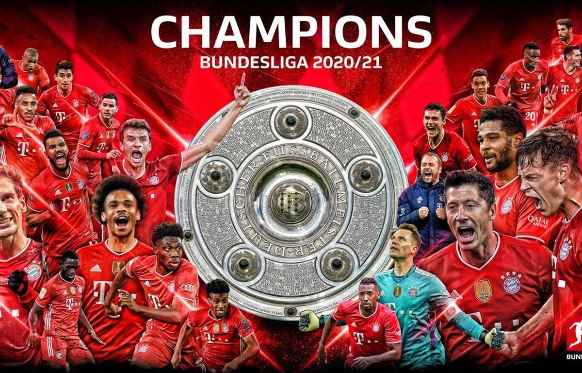 Bayern Munich trở thành nhà vô địch Bundesliga 2020-21.