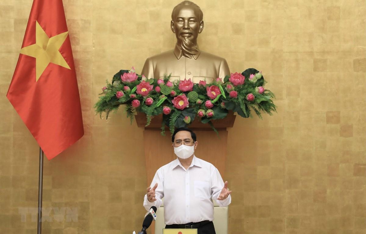 Thủ tướng Phạm Minh Chính phát biểu chỉ đạo. (Ảnh: Lâm Khánh/TTXVN)