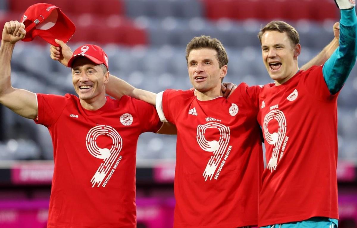Cầu thủ Bayern ăn mừng chức vô địch. (Nguồn: Getty Images)